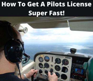 how to get a pilots license in less than a year